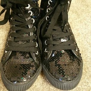 Other - Sequins  high top sneakers